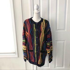 Aklanda Multi Color Australian Wool Cardigan Large